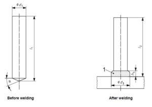 Unthreaded stud welding