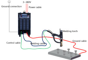 Inverter Drawn Arc Stud Welder Connection Sketch
