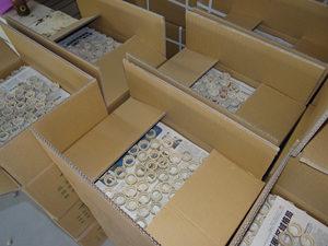 Ceramic ferrule in cartons