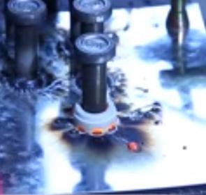 UF ceramic ferrule for thru-deck welding