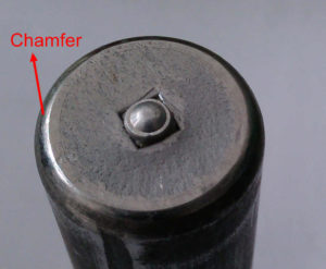 Shear stud with chamfer