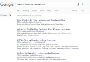 Shear studs welding machine
