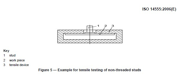 Non-threaded stud tensile testing